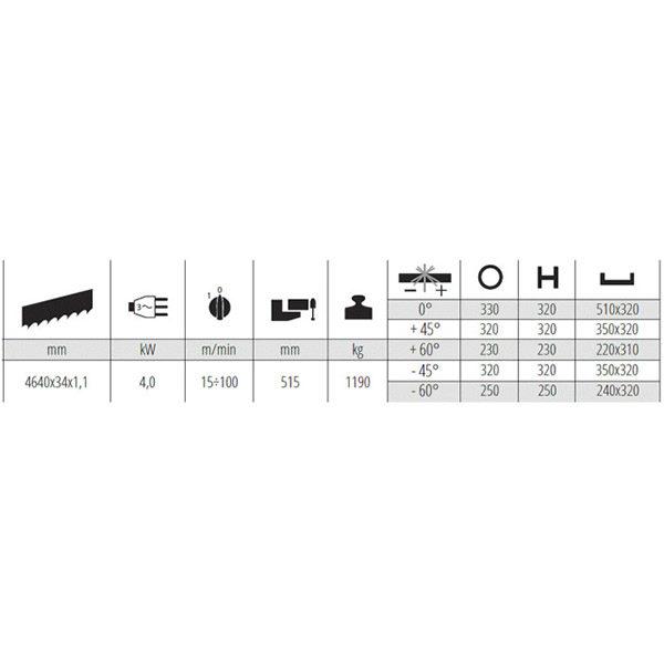 Polavtomatska tračna žaga MEP SHARK 521 SXI EVO