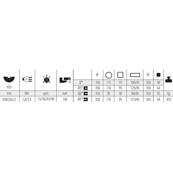 Polavtomatska krožna žaga MEP TIGER 352 SX EVO