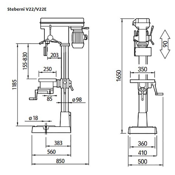 Vrtalni stroj Serrmac V22/V22E (Kopija) 1