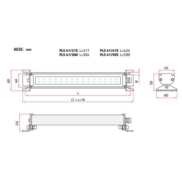 Strojna LED luč PLS 41/300 1